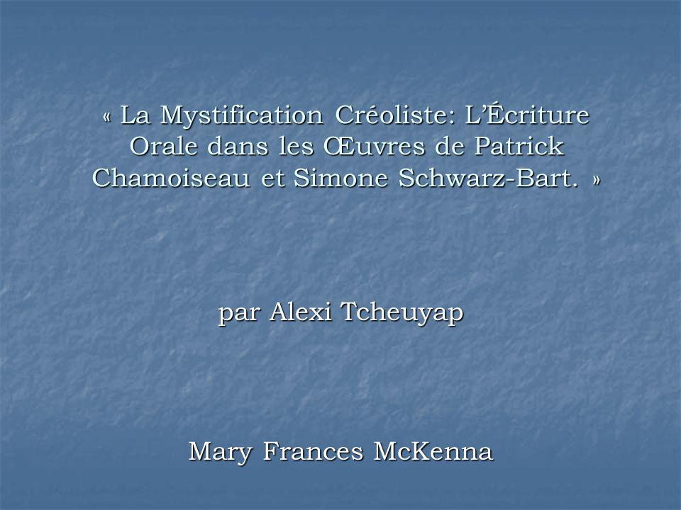 par Alexi Tcheuyap Mary Frances McKenna