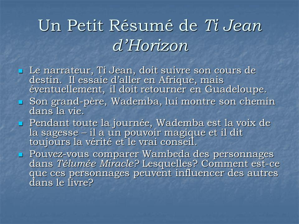 Un Petit Résumé de Ti Jean d'Horizon