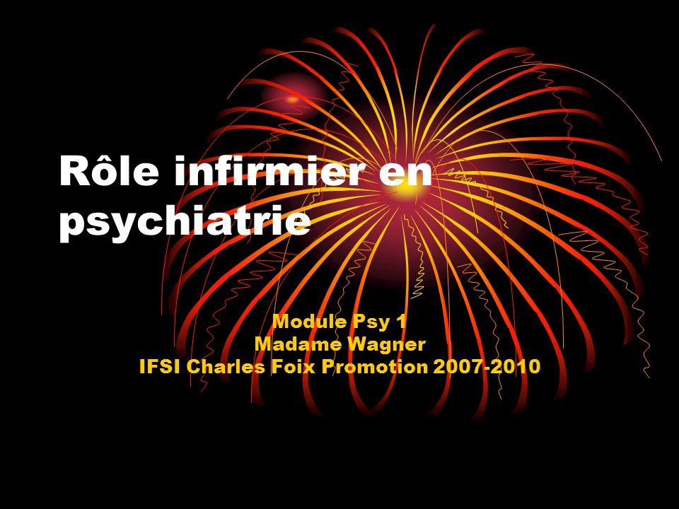 Rôle infirmier en psychiatrie