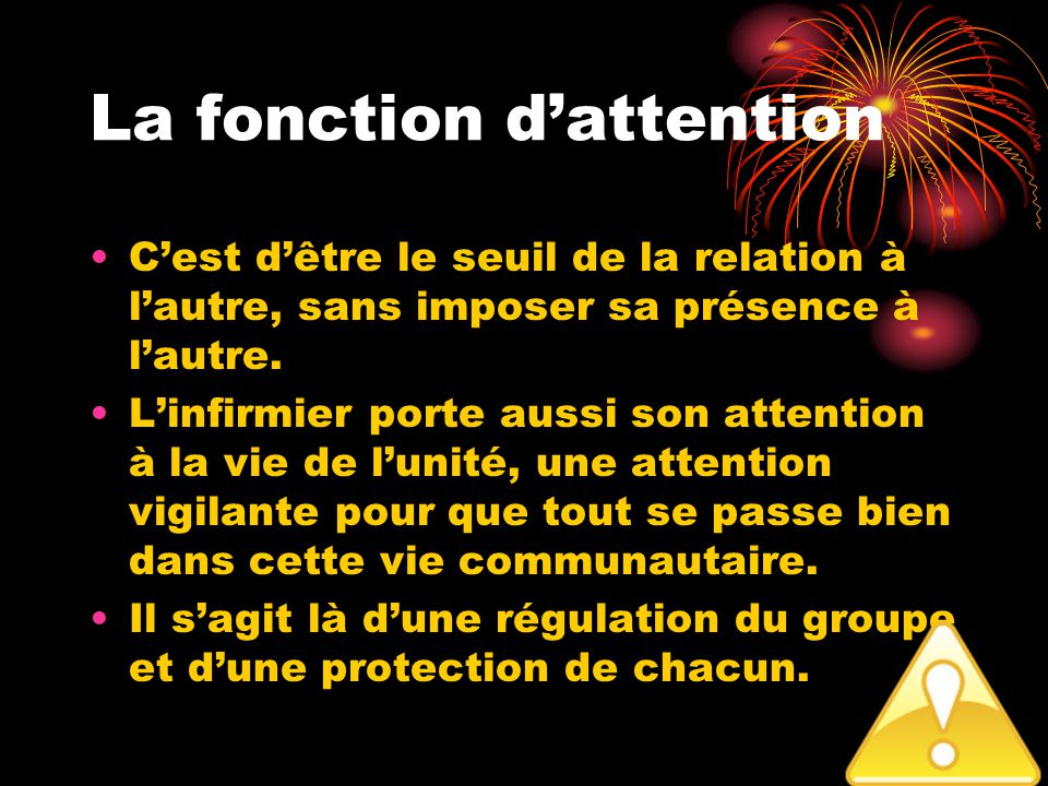La fonction d'attention