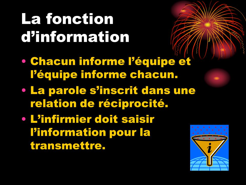 La fonction d'information