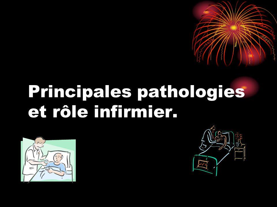 Principales pathologies et rôle infirmier.