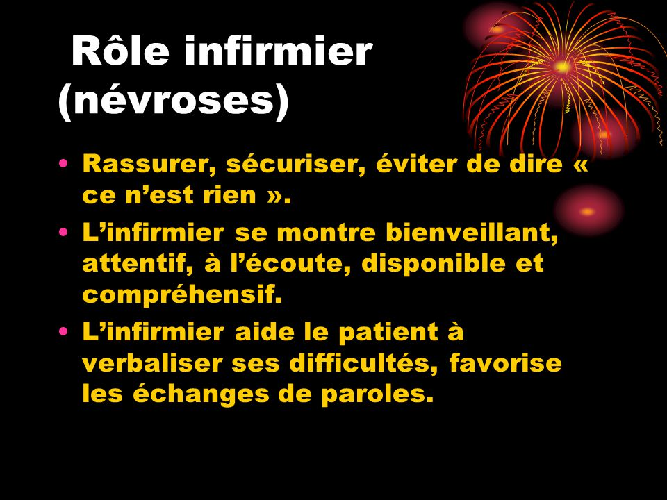 Rôle infirmier (névroses)