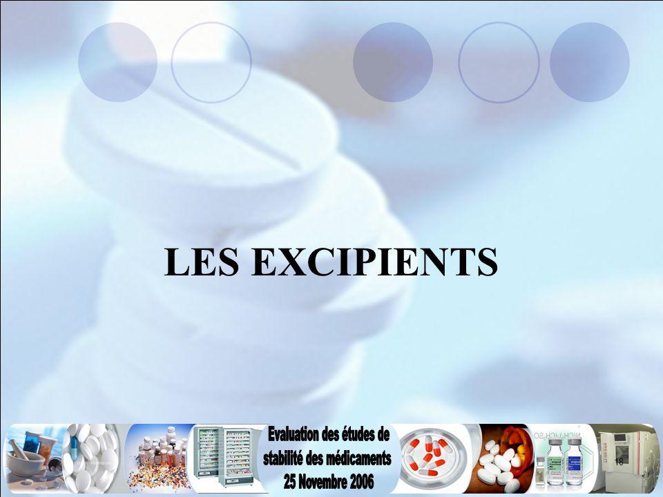 LES EXCIPIENTS
