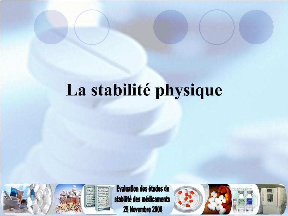 La stabilité physique
