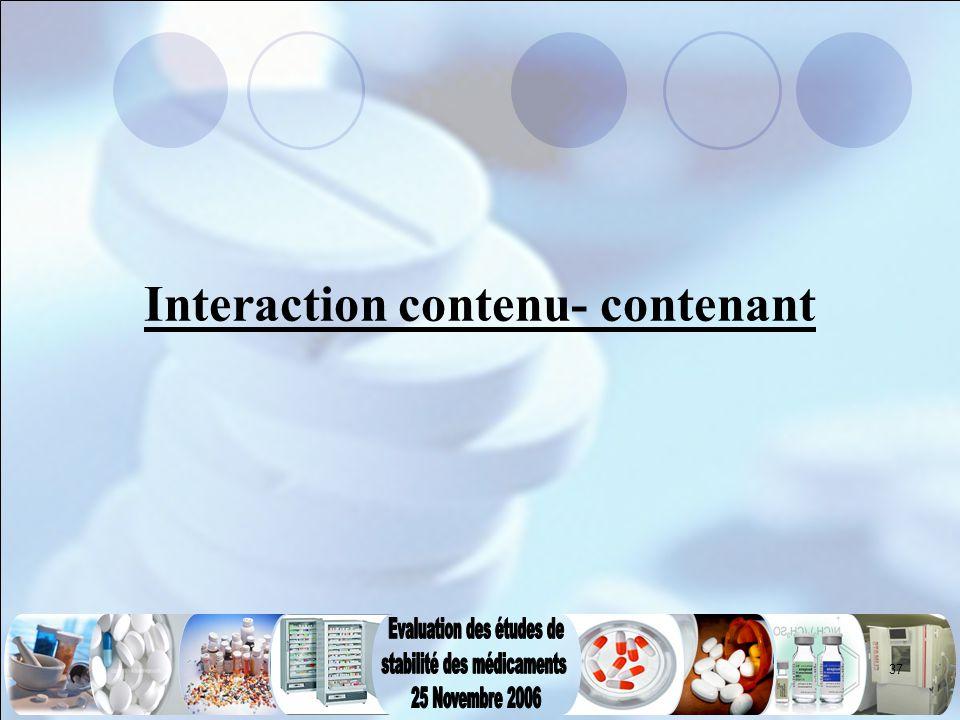 Interaction contenu- contenant