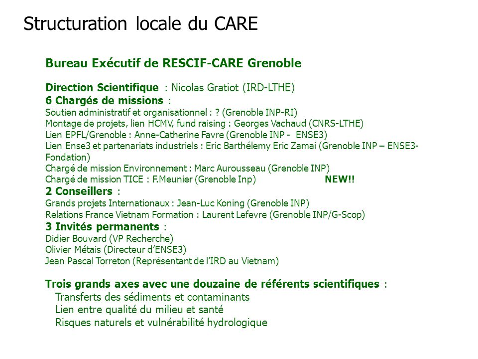 Structuration locale du CARE