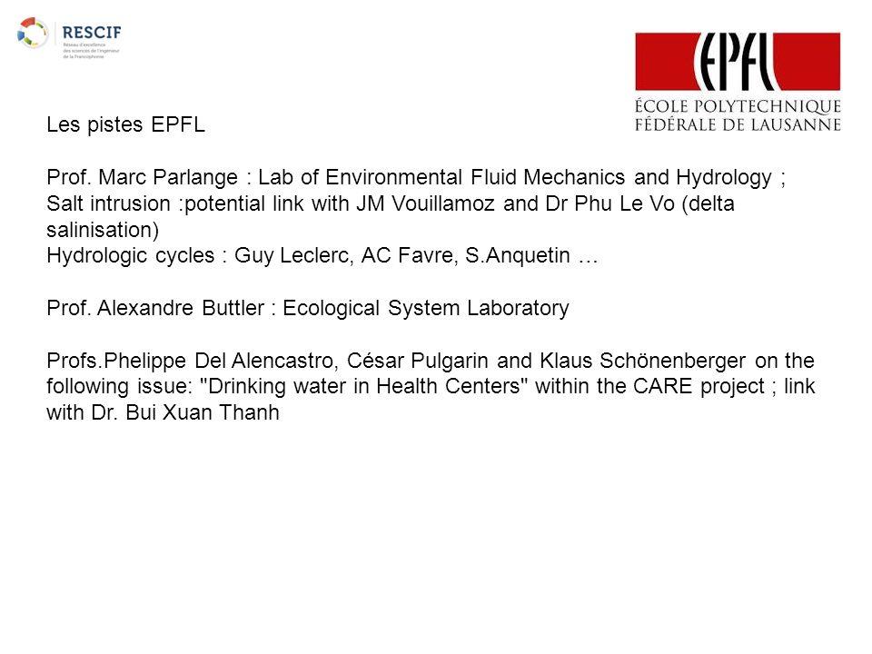Les pistes EPFL