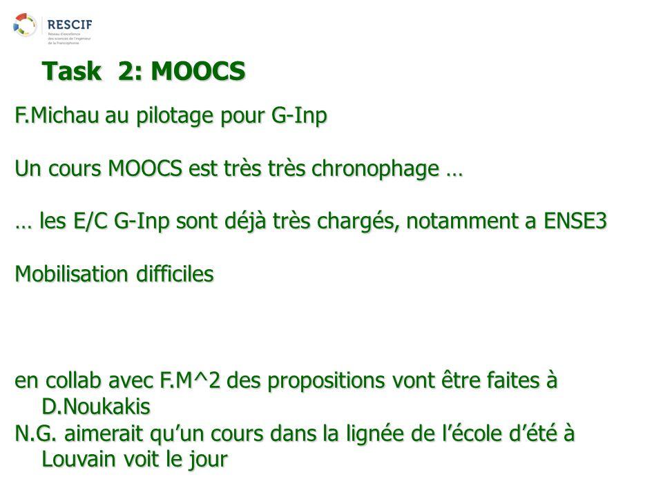 Task 2: MOOCS F.Michau au pilotage pour G-Inp