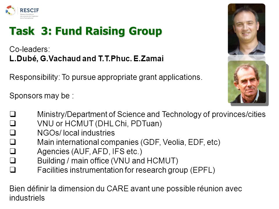 Task 3: Fund Raising Group