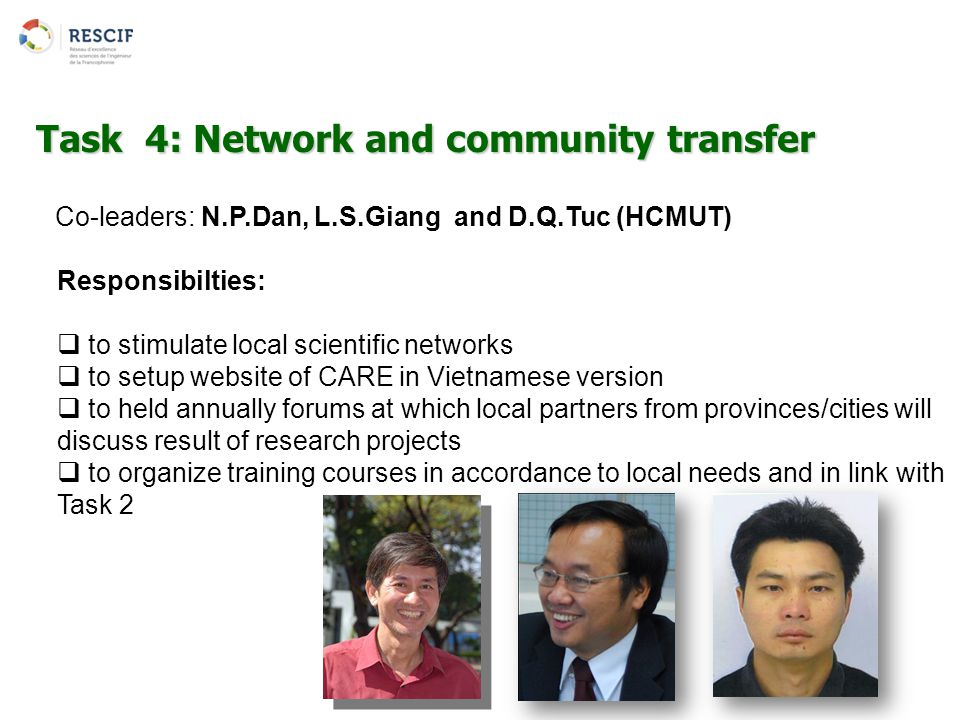 Task 4: Network and community transfer