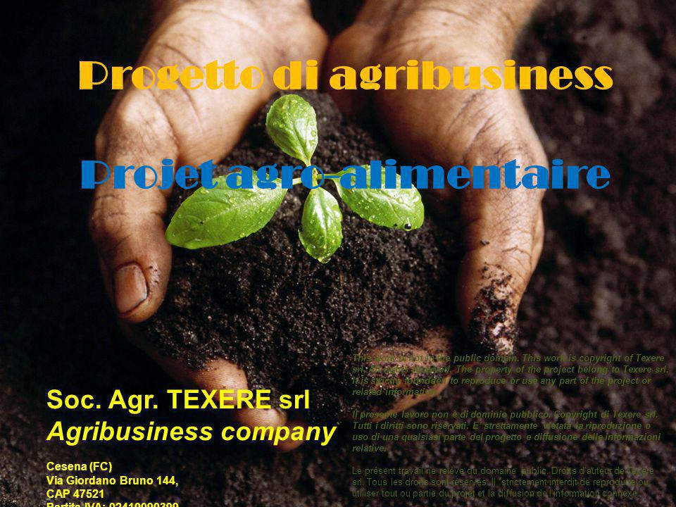 Progetto di agribusiness Projet agro-alimentaire