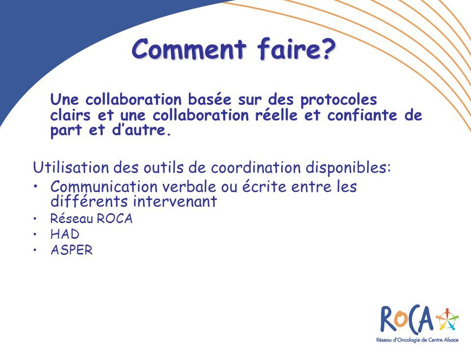 Comment faire Une collaboration basée sur des protocoles clairs et une collaboration réelle et confiante de part et d'autre.