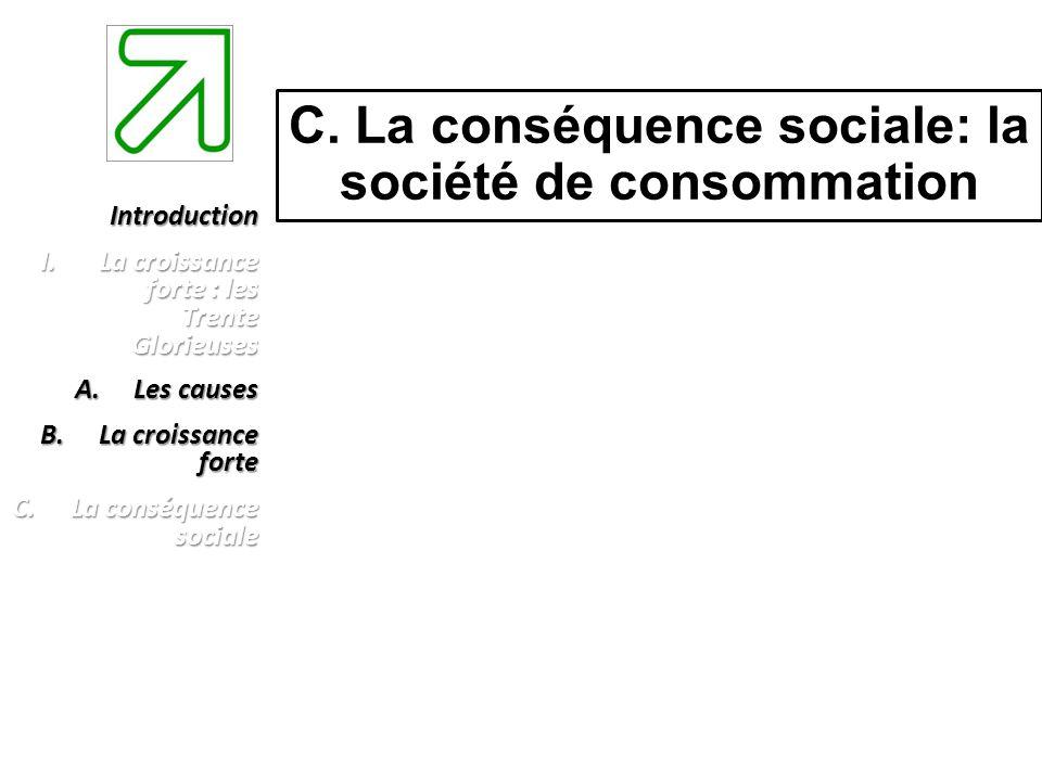 C. La conséquence sociale: la société de consommation