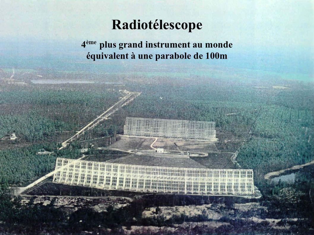 4ème plus grand instrument au monde équivalent à une parabole de 100m