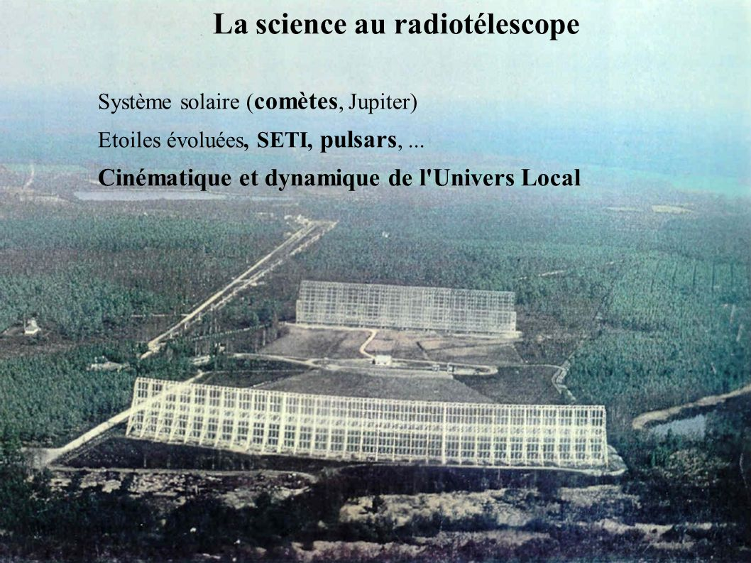 La science au radiotélescope