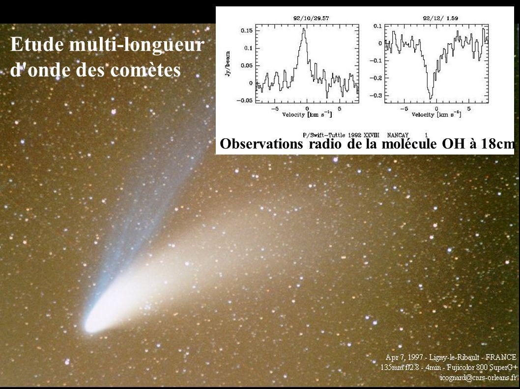 Etude multi-longueur d onde des comètes