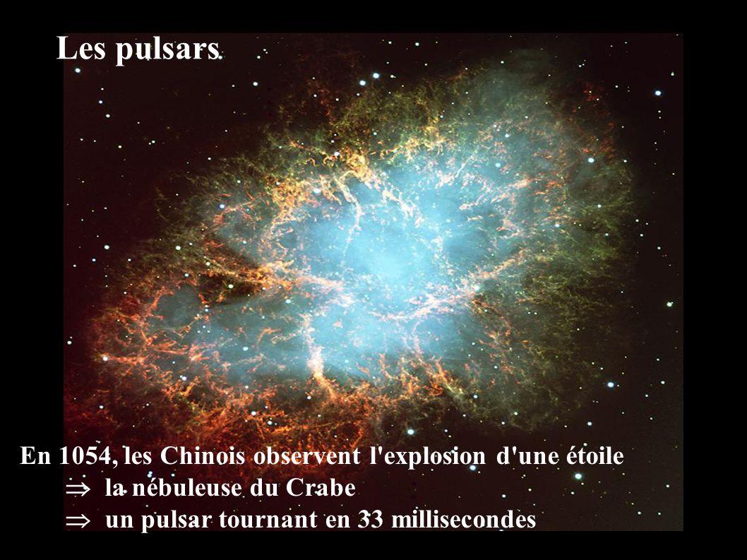 Les pulsars En 1054, les Chinois observent l explosion d une étoile
