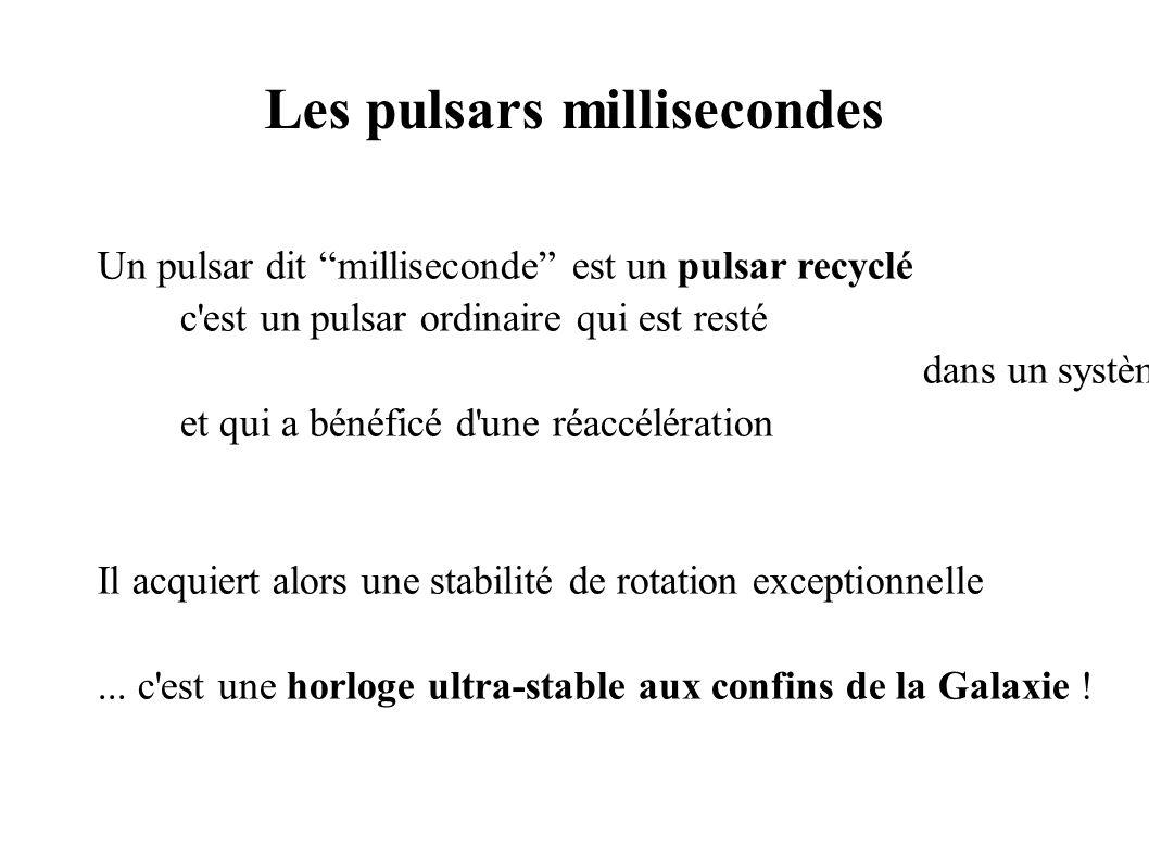 Les pulsars millisecondes