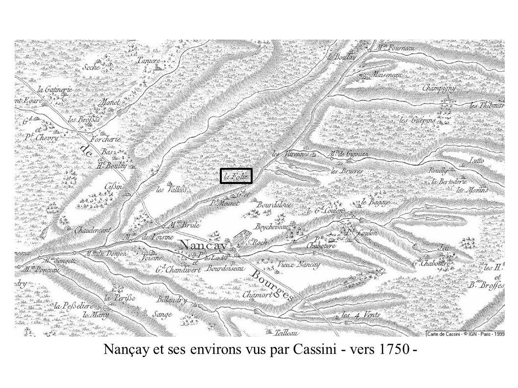 Nançay et ses environs vus par Cassini - vers 1750 -