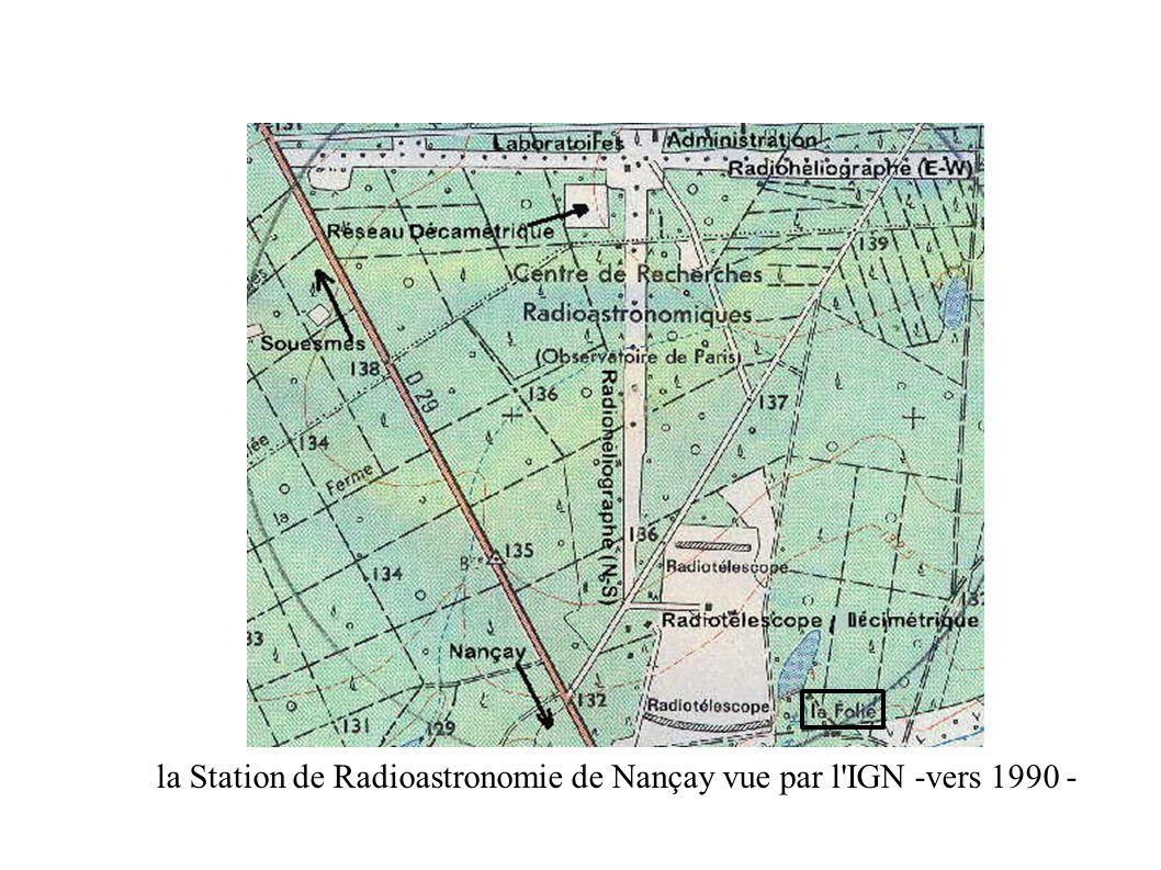 la Station de Radioastronomie de Nançay vue par l IGN -vers 1990 -