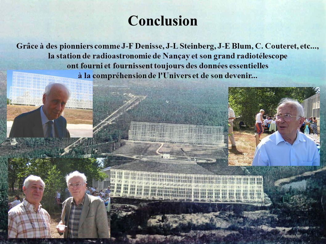 Conclusion Grâce à des pionniers comme J-F Denisse, J-L Steinberg, J-E Blum, C. Couteret, etc...,