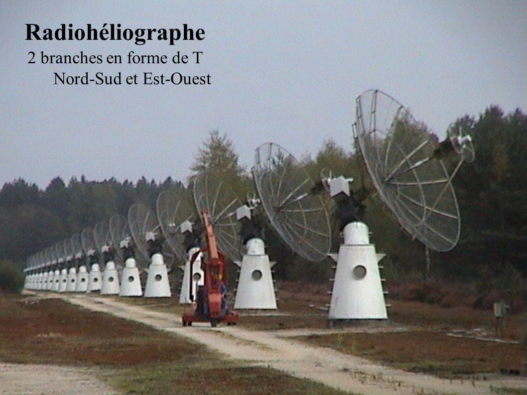 Radiohéliographe 2 branches en forme de T Nord-Sud et Est-Ouest