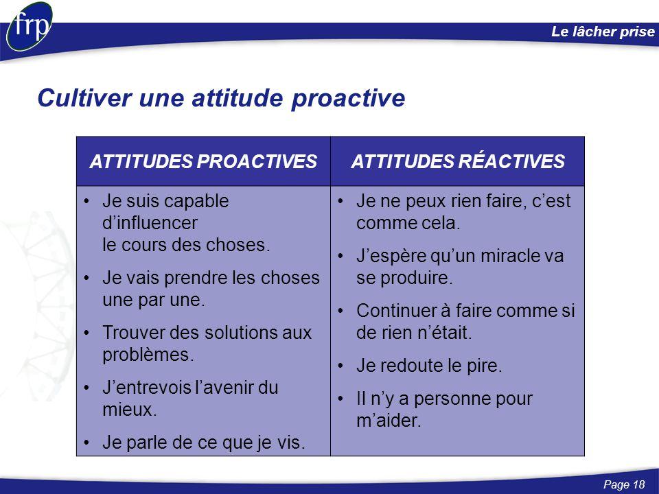 Cultiver une attitude proactive