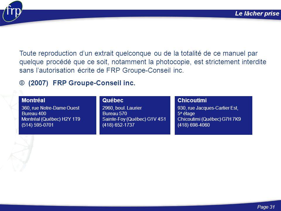 © (2007) FRP Groupe-Conseil inc.