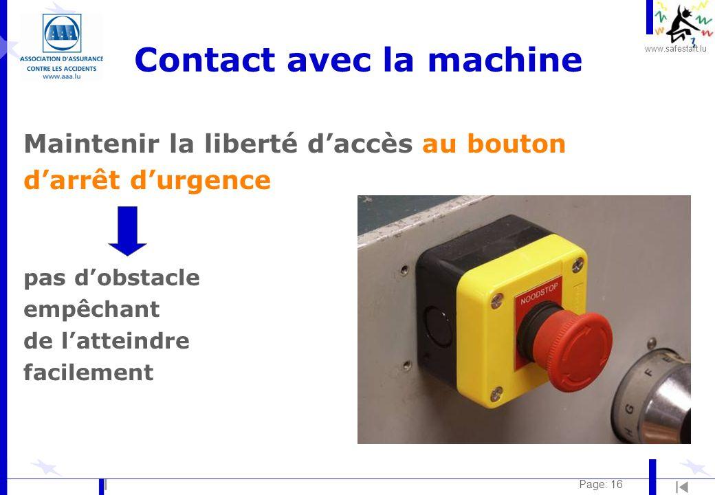 Contact avec la machine