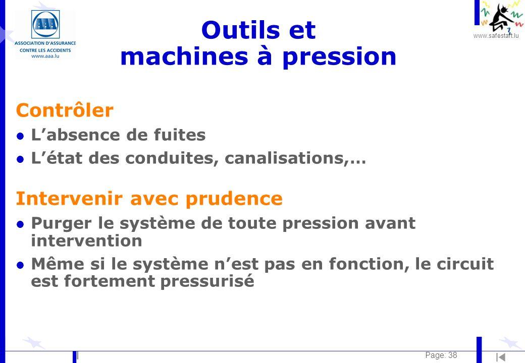 Outils et machines à pression