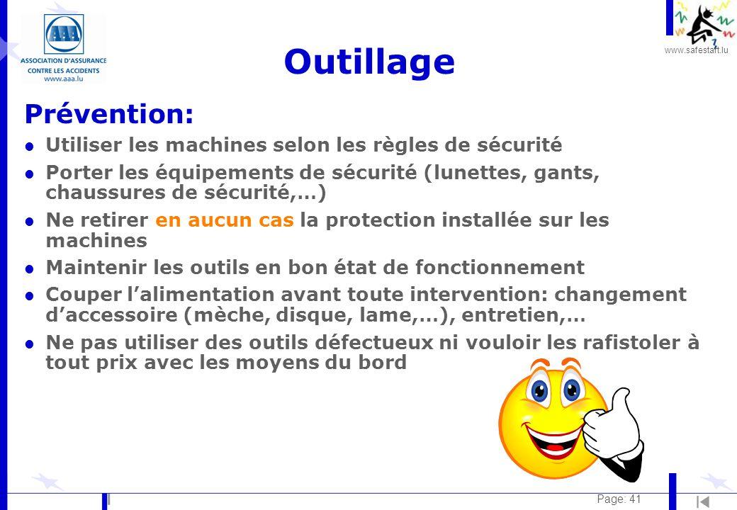 Outillage Prévention: