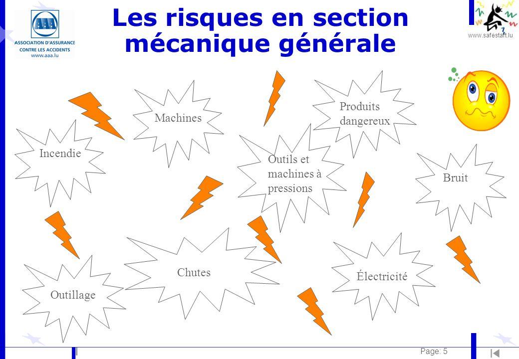 Les risques en section mécanique générale
