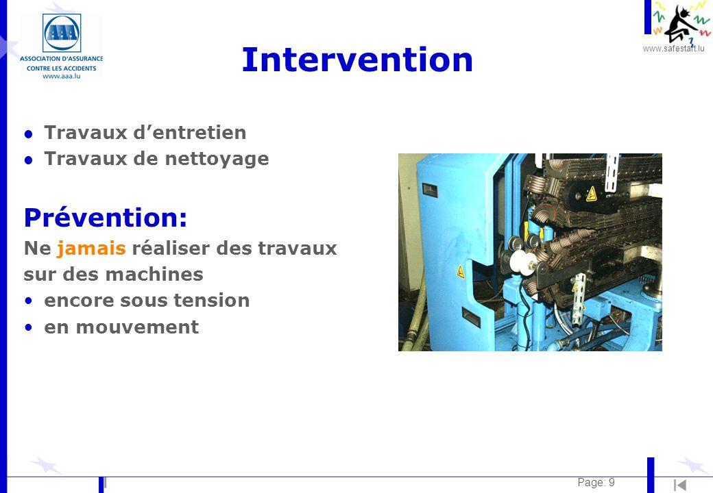 Intervention Prévention: Travaux d'entretien Travaux de nettoyage
