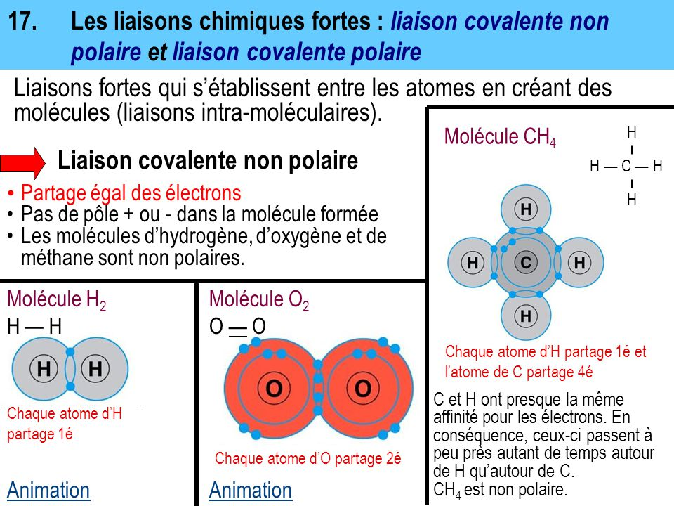 Liaison covalente non polaire