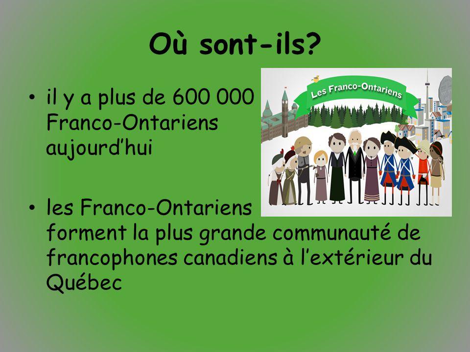 Où sont-ils il y a plus de 600 000 Franco-Ontariens aujourd'hui