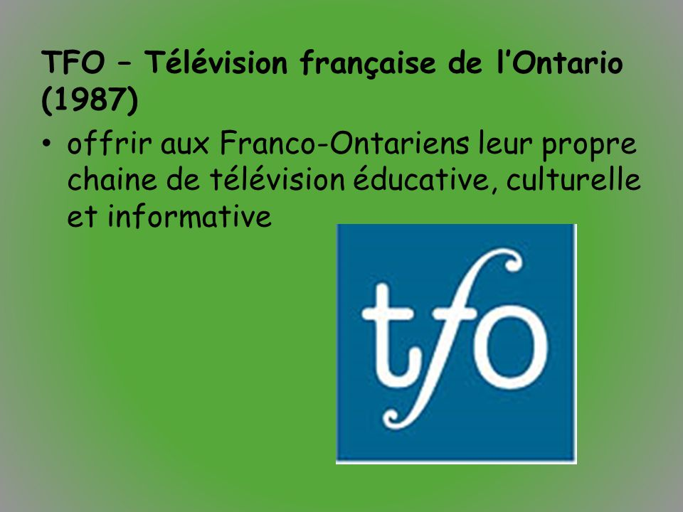 TFO – Télévision française de l'Ontario (1987)