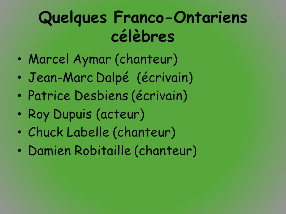 Quelques Franco-Ontariens célèbres