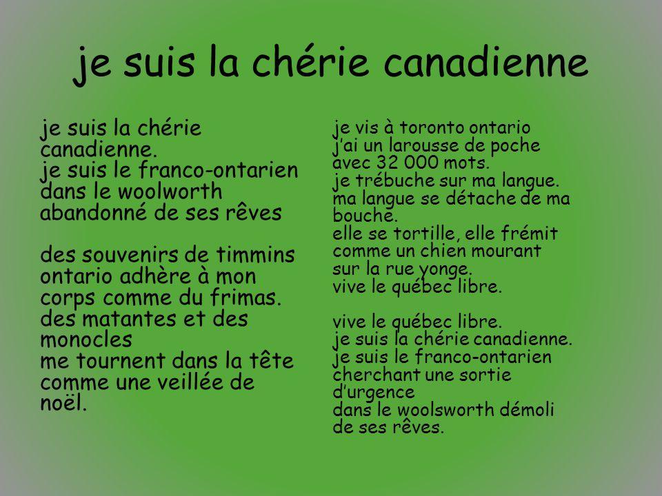 je suis la chérie canadienne