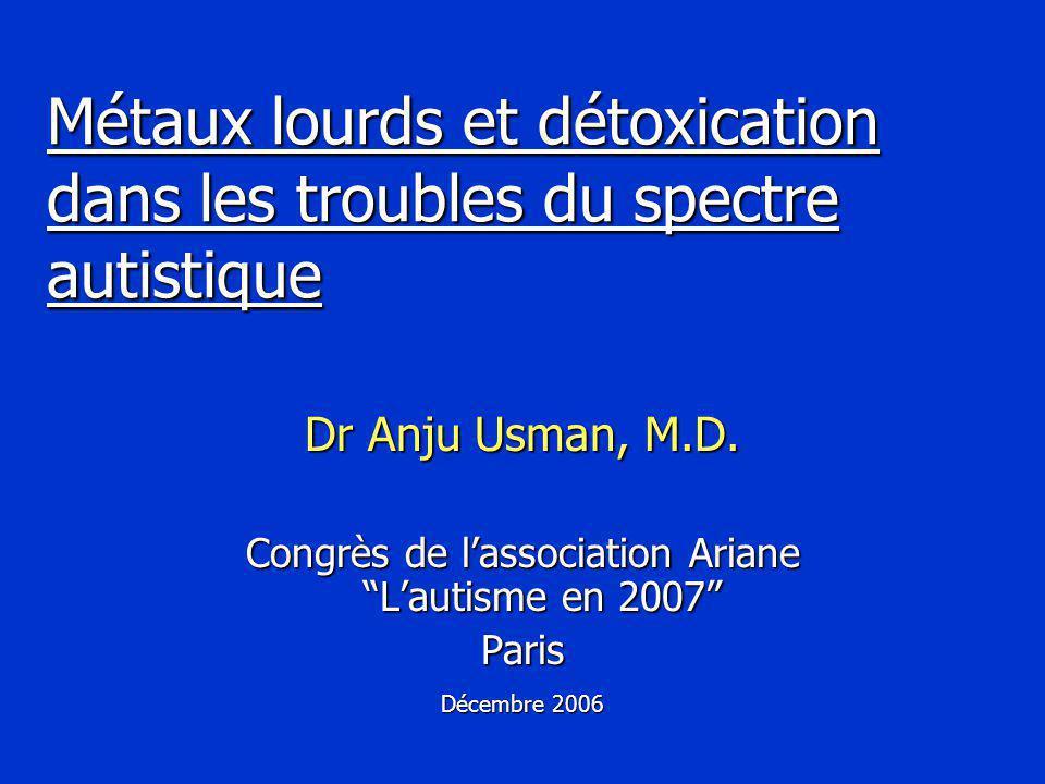 Métaux lourds et détoxication dans les troubles du spectre autistique