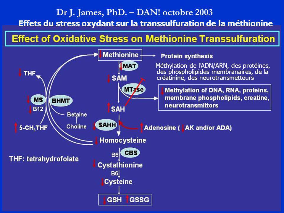 Dr J. James, PhD. – DAN! octobre 2003