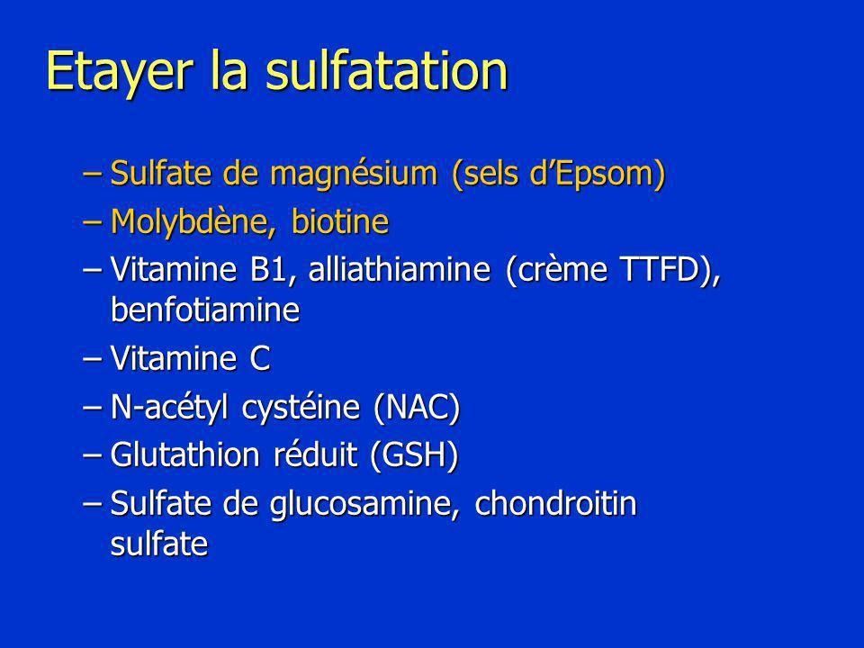 Etayer la sulfatation Sulfate de magnésium (sels d'Epsom)