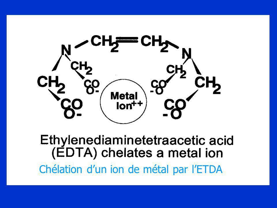 Chélation d'un ion de métal par l'ETDA