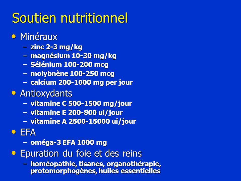 Soutien nutritionnel Minéraux Antioxydants EFA