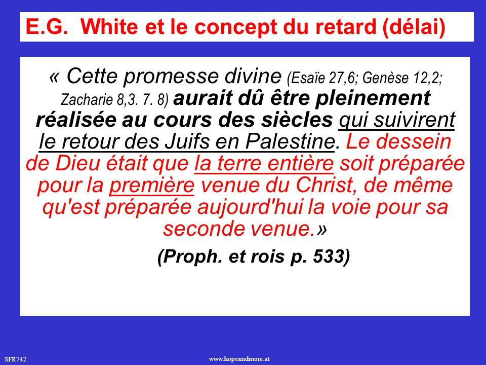 E.G. White et le concept du retard (délai)