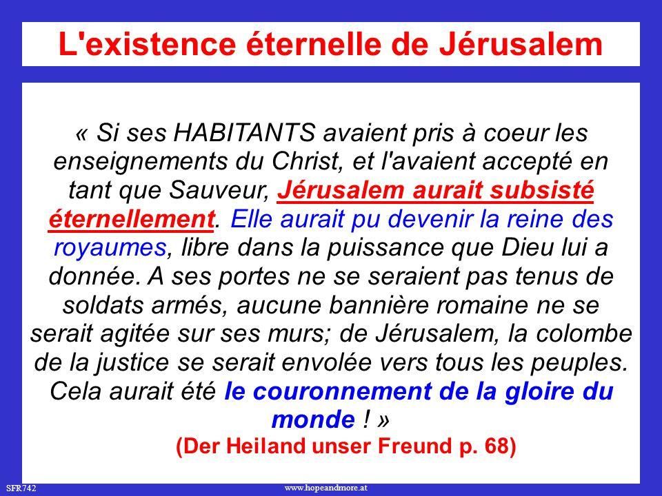 L existence éternelle de Jérusalem (Der Heiland unser Freund p. 68)