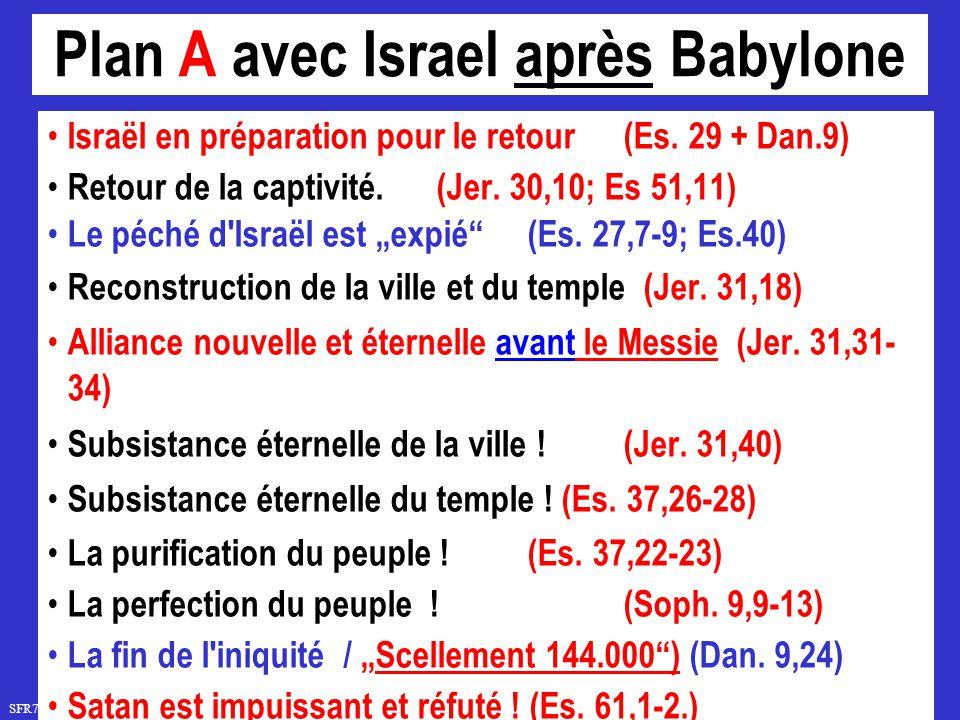 Plan A avec Israel après Babylone