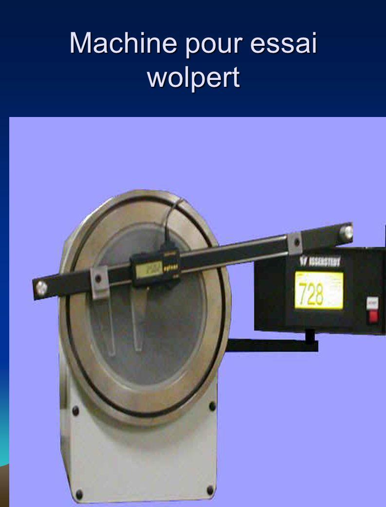 Machine pour essai wolpert