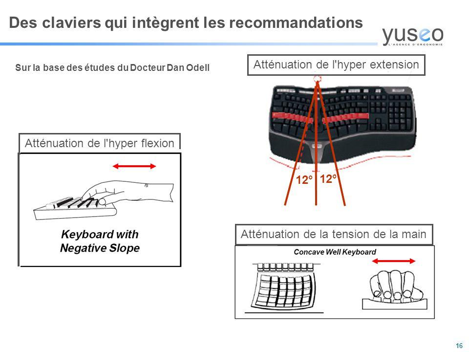 Des claviers qui intègrent les recommandations
