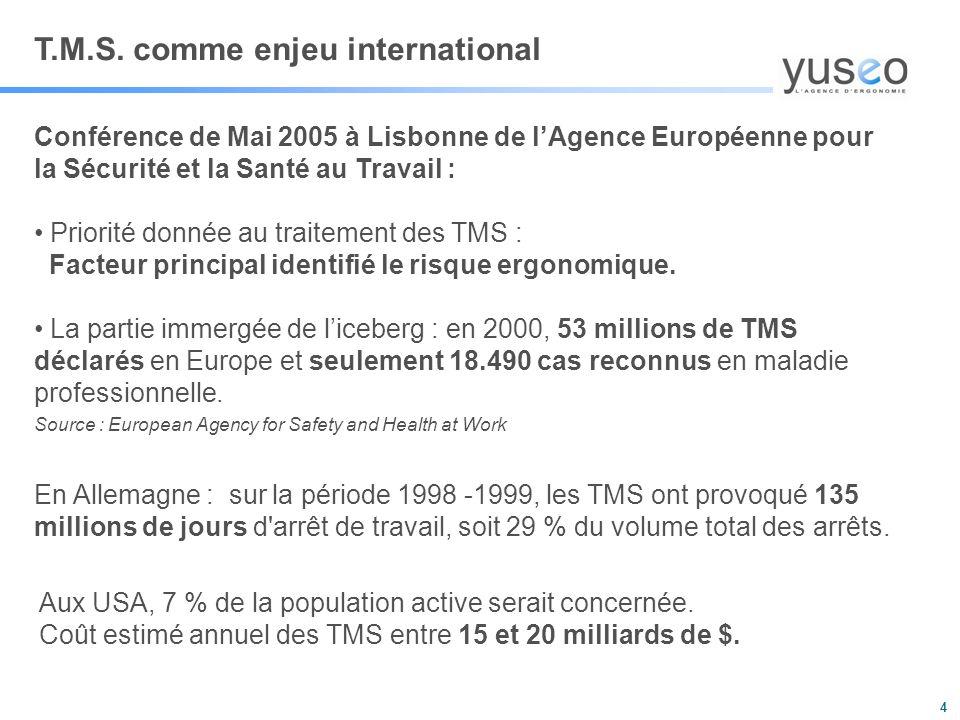 T.M.S. comme enjeu international